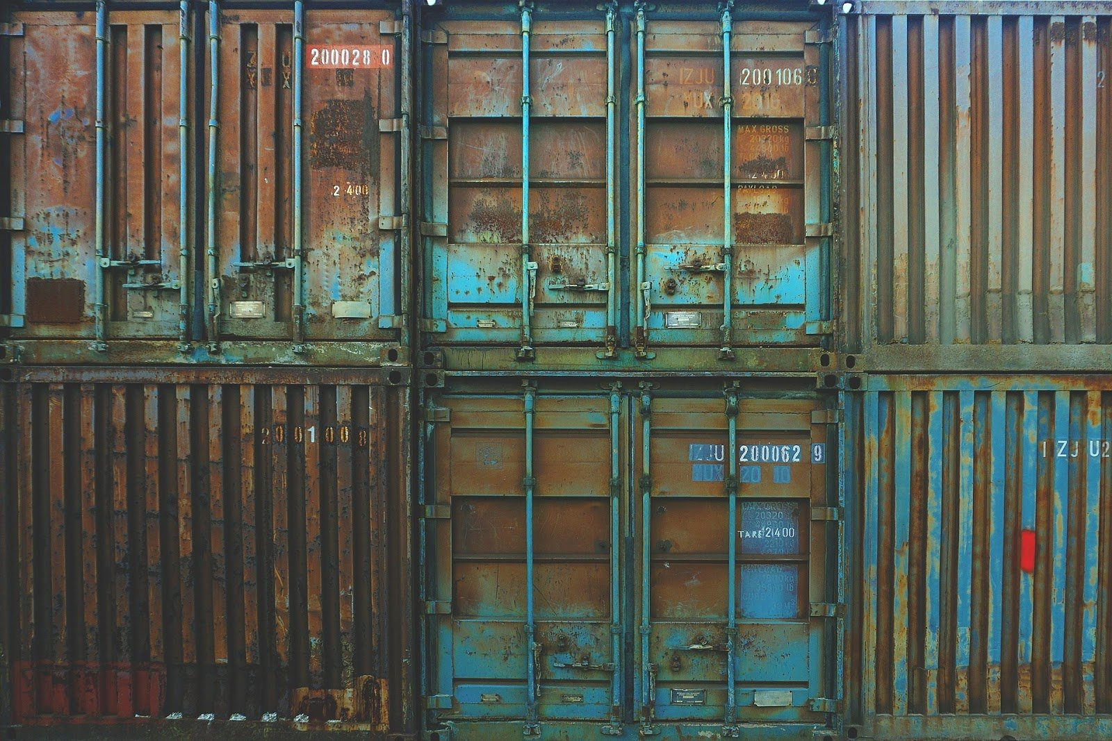 Rusty storage containers