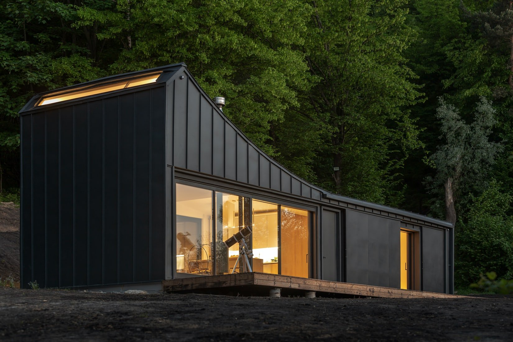 black storage container home